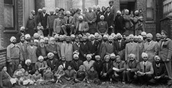 Much of the early Bhat Sikh Community at the Maharajah Bhupinder Singh Dharamsala, London, c.1953