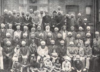 Members of the Early Bhat Sikh Community at Shepherds Bush Gurdwara,London, 1938