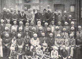 Members of the Early Bhat Sikh Community at Shepherds Bush Gurdwara,London, 1938